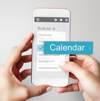 Negócio digital para fazer interface de aplicativo de lista