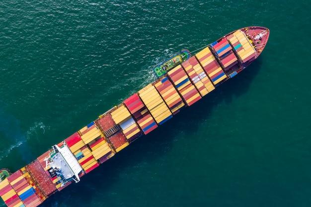 Negócio internacional de transporte de contêineres
