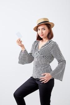 Negócio jovem mulher asiática