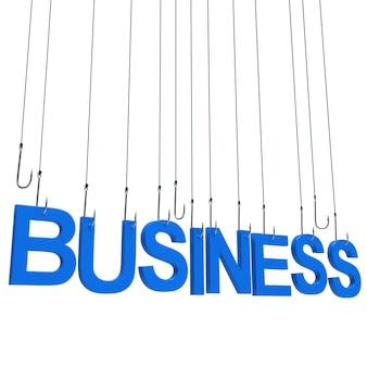 Negócio, pendurado texto