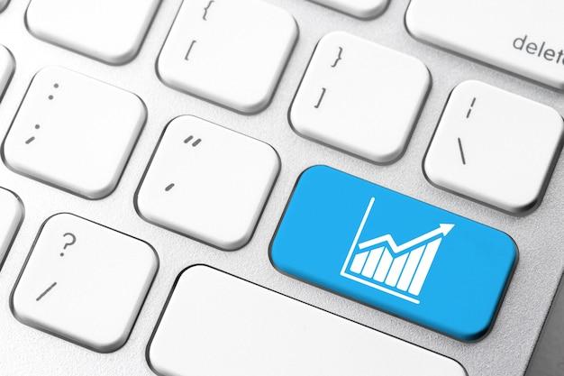 Negócios e e-commerce ícone no botão do teclado de computador