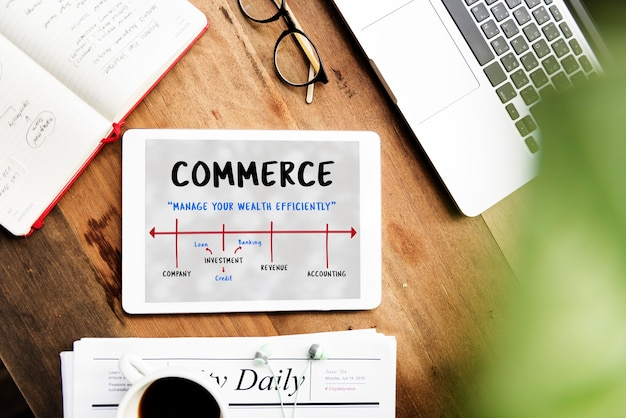 Negócios finanças economia comércio investimento