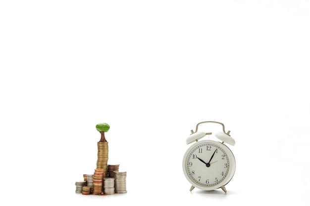 Negócios financeiros conceito de poupança de dinheiro