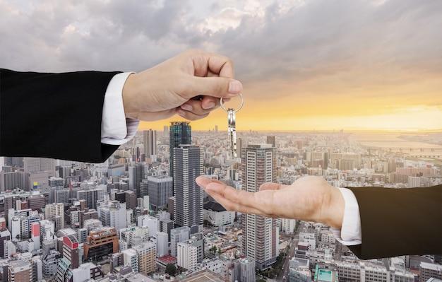 Negócios imobiliários, aluguel residencial e investimento