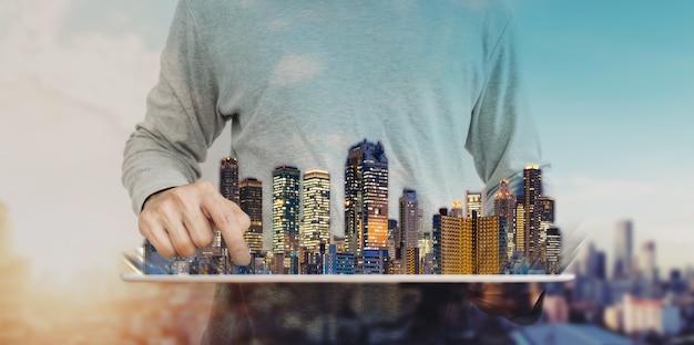 Negócios imobiliários e tecnologia de construção