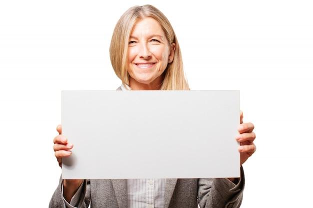 Negócios rosto sorridente mulher de negócios moderna