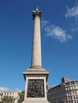 Nelson column em londres