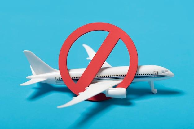 Nenhum símbolo no avião pequeno