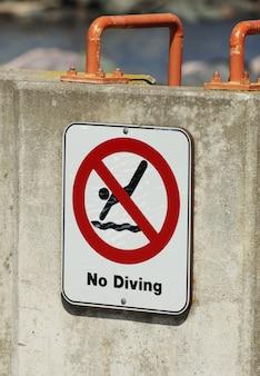 Nenhum sinal de mergulho