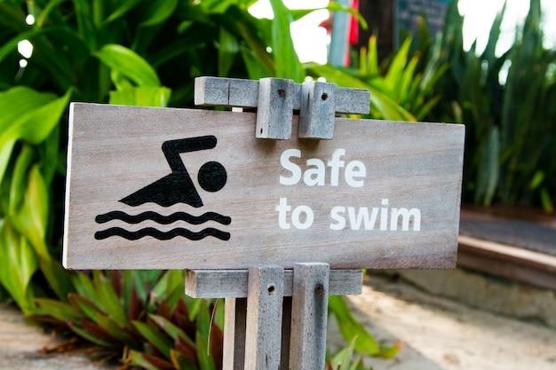 Nenhum sinal de natação