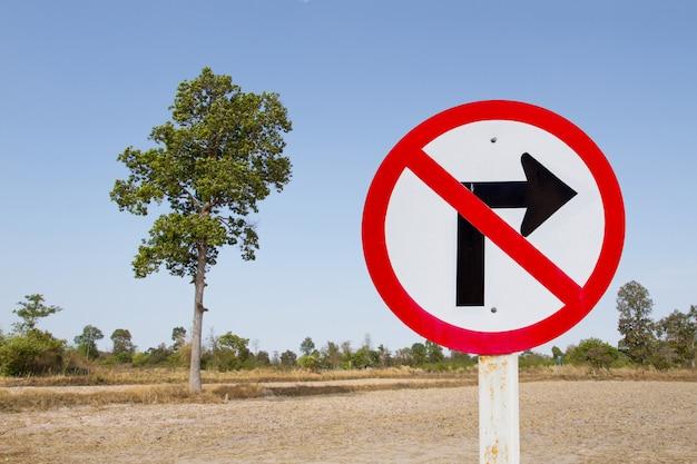 Nenhum sinal de trânsito à direita
