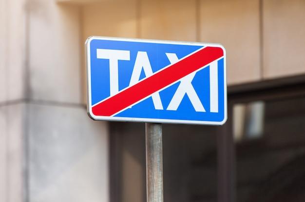 Nenhum sinal de trânsito de estacionamento de táxi