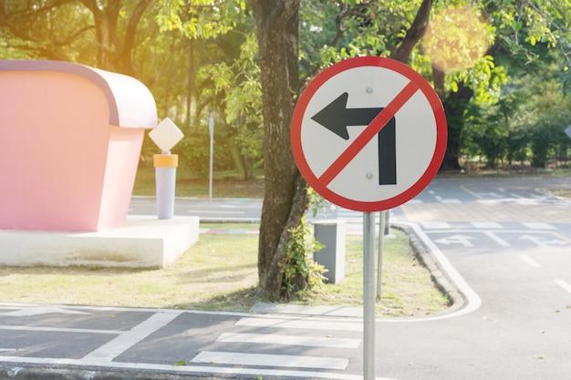Nenhum sinal de volta à esquerda