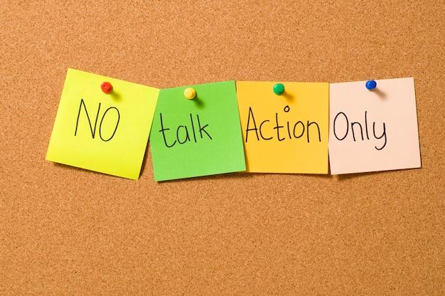 Nenhuma ação de conversa apenas