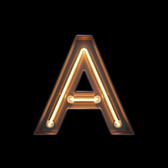 Neon light alfabeto a