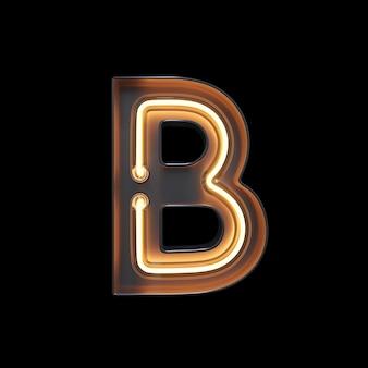 Neon light alfabeto b