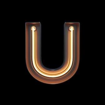 Neon light alfabeto u