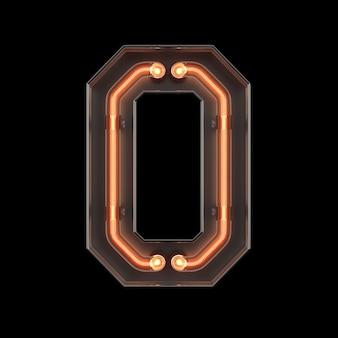 Néon, luz, numere 0