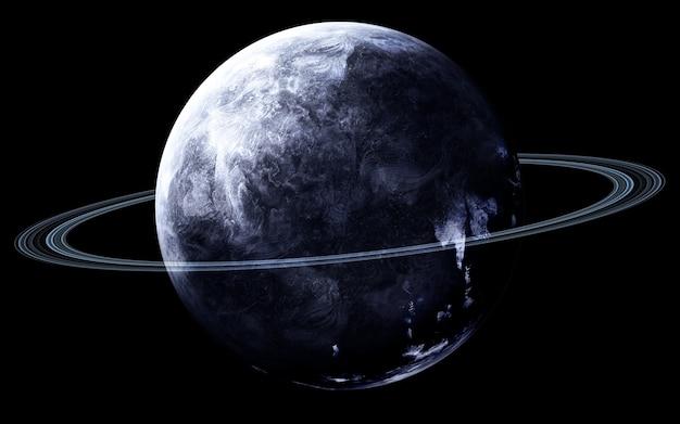 Netuno no espaço, ilustração 3d. .