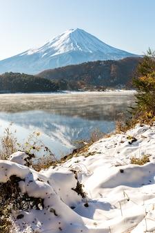 Neve fuji kawaguchiko final do outono