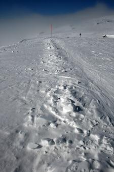 Neve no etna volcan, na sicília