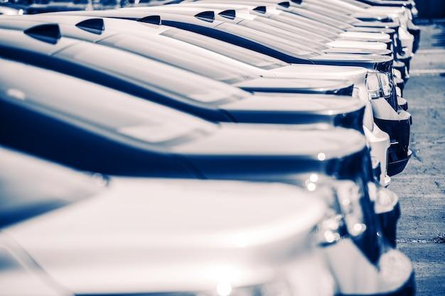 New cars factory estacionamento
