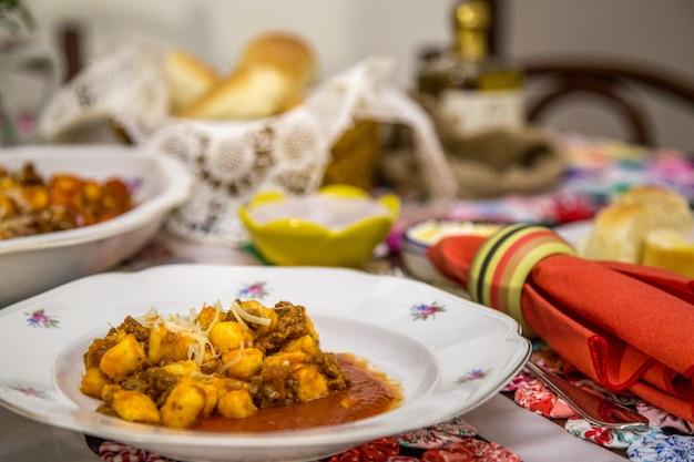 Nhoque macarrão brasileiro