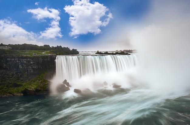 Niagara cai do canadá. exposição longa