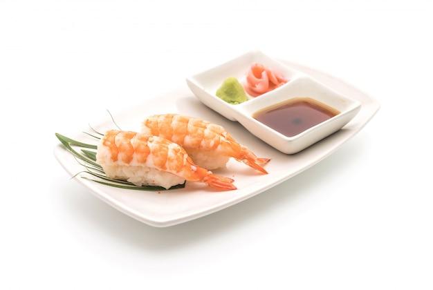 Nigiri de sushi de camarão - estilo de comida japonesa