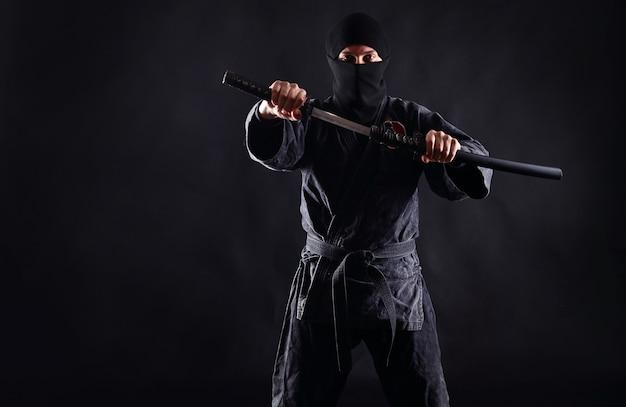 Ninja com katana