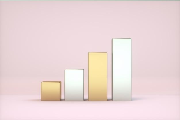 Nível de sinal ouro e prata cores rosa