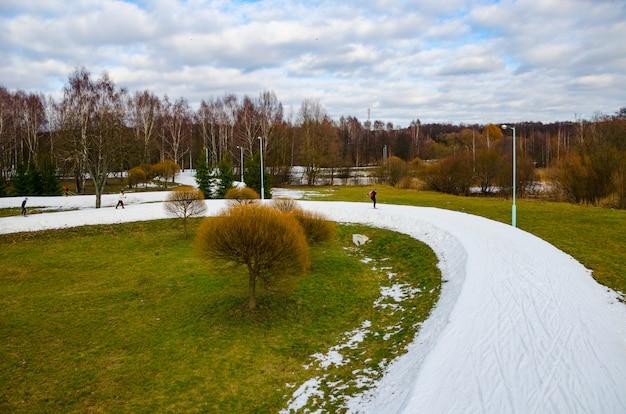 No centro de minsk foram competições de esqui