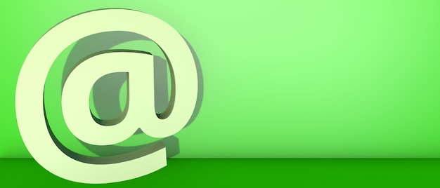No símbolo em verde