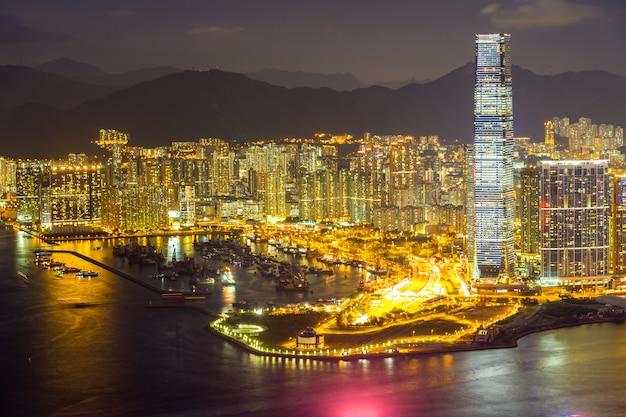 Noite aérea de hong kong