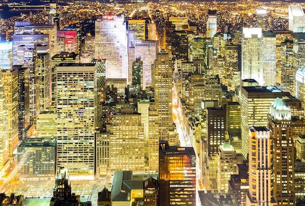 Noite aérea de nova york
