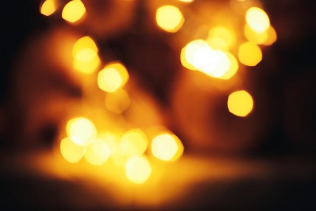 Noite cidade luzes bokeh fundo gerland decorações