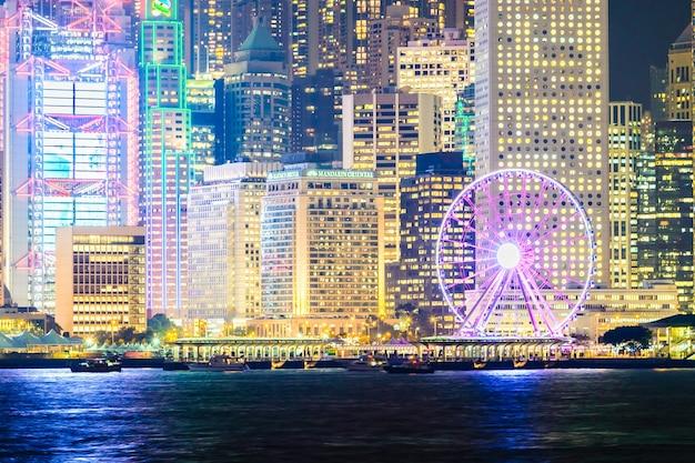 Noite da arquitectura da cidade escritório hong
