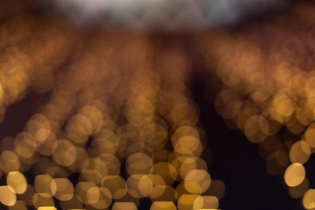 Noite de bokeh abstrato no fundo da cidade.