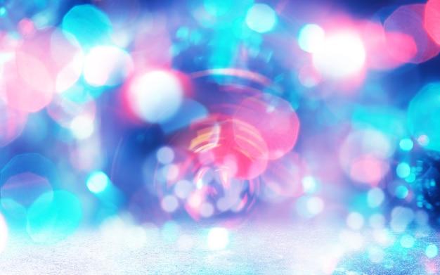 Noite de feriado e luzes da festa. fundo de luzes vintage de brilho.