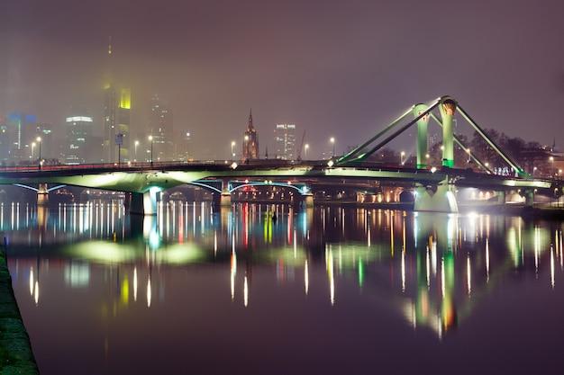 Noite frankfurt am main, alemanha