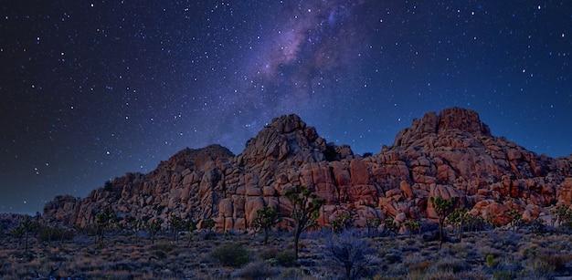Noite no parque nacional joshua tree