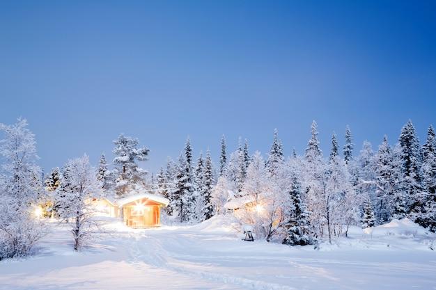 Noite paisagem de inverno