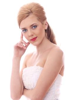Noiva jovem e bonita