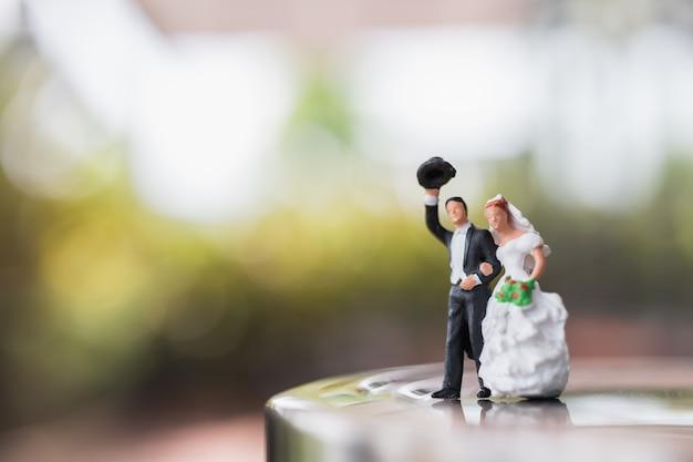 Noiva noivo, par, ficar, ligado, a, fase