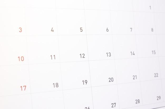 Nomeação da informação no calendário para o fundo ou a textura da atividade.
