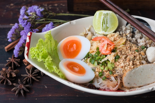 Noodle receitas da tailândia