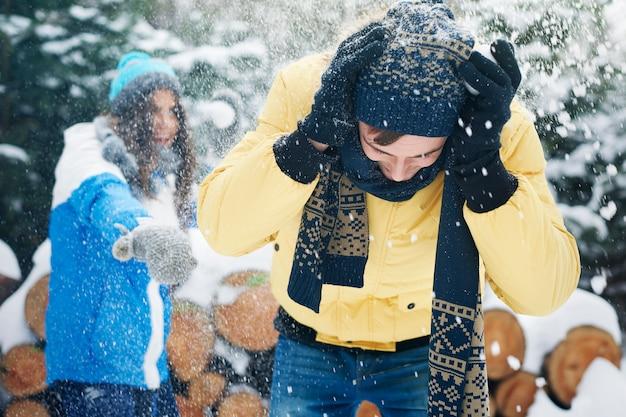 Nós nos sentimos como uma criança quando a primeira neve caiu