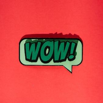 Nossa mensagem em estilo cômico de pop art