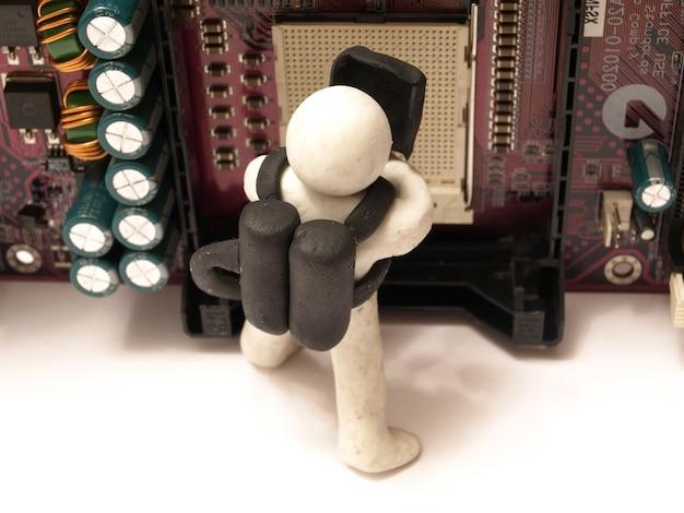 Nosso mestre irá consertar qualquer equipamento de informática