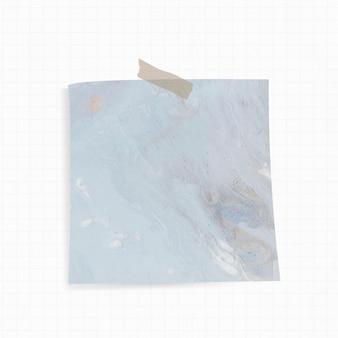 Nota adesiva com fundo azul aquarela